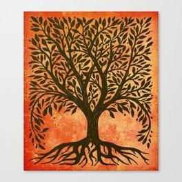 Tree Of Life Warm Tones Canvas Print
