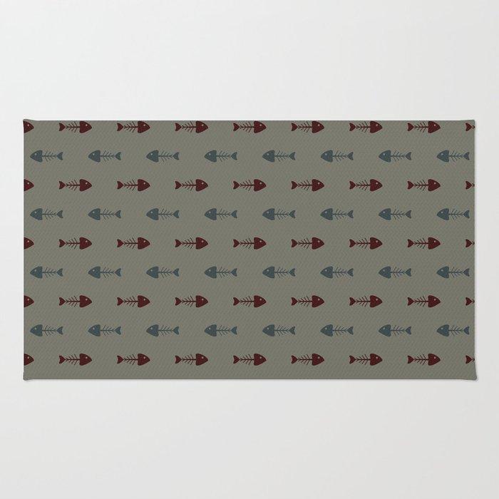 fish bone pattern rug by vanessavolk society6