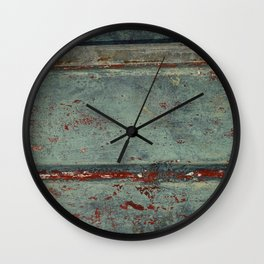 Boat Wood Paint Texture Cornwall Wall Clock
