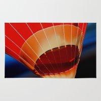 hot air balloon Area & Throw Rugs featuring Hot Air Balloon by DistinctyDesign