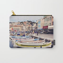 Boats in Cassis Harbor Carry-All Pouch