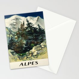 cartellone alpes societe nationale des chemins Stationery Cards