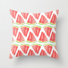 Watermelon Red Piece Throw Pillow