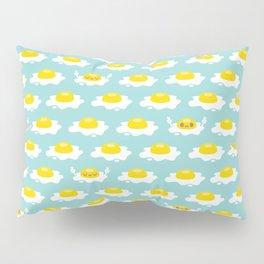 Sunny Side Up! / Print / Blue Pillow Sham