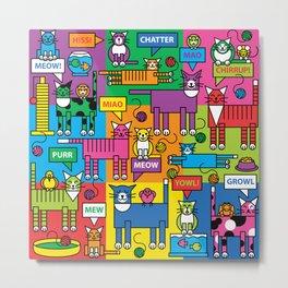Colorful Cats Metal Print