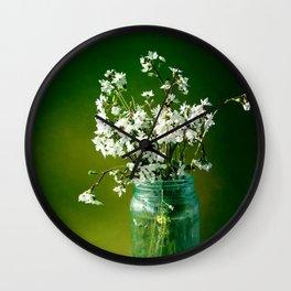 Delicate Petals Wall Clock
