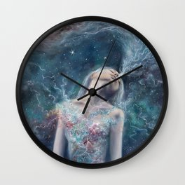Love Will Split You Open Into Light Wall Clock