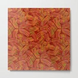 Pasta Primavera (pattern) Metal Print