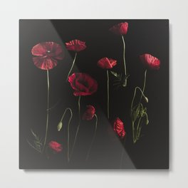 Moody Poppies Metal Print
