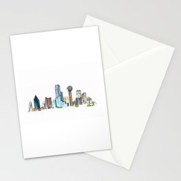 downtown dallas skyline Stationery Cards