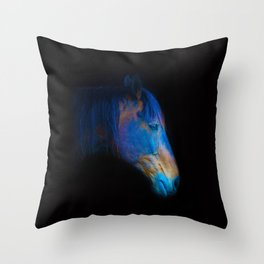 His Quiet Place II - Black Thoroughbred Percheron Throw Pillow