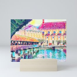Lucerne Watercolour Mini Art Print
