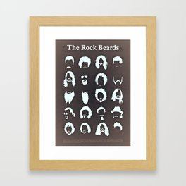 The Rock Beards Framed Art Print