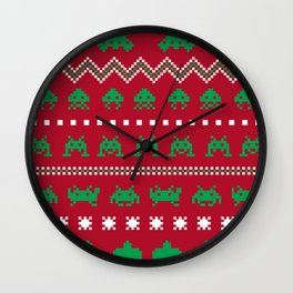 xmas invaderz Wall Clock