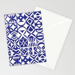 Geometric hydraulic tiles Stationery Cards