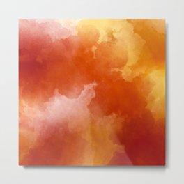 Sunset Glow Abstract Art Metal Print