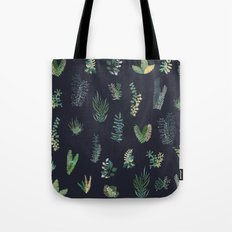 green garden at nigth Tote Bag
