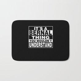 BERNAL Surname Personalized Gift Bath Mat