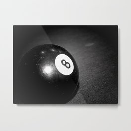 Eight Ball-Black Metal Print
