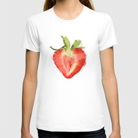 strawberry T-shirts featuring strawberry by Cindy Lepage