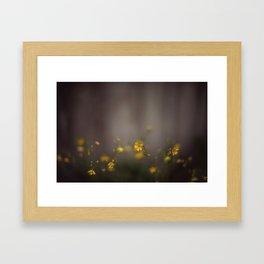 a light in the fog Framed Art Print
