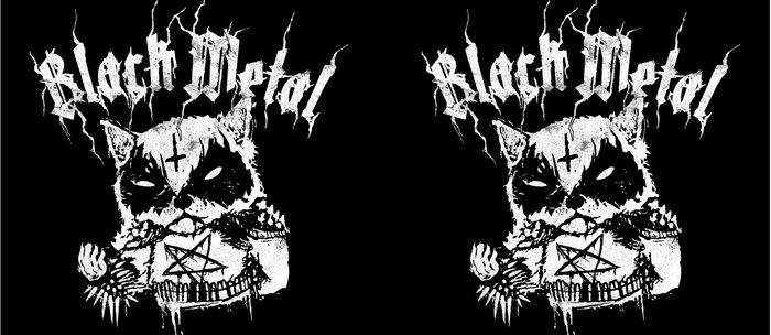 Grim Black Metal Corpse Paint Racoon Coffee Mug