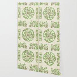 beautiful vintage green pattern Wallpaper