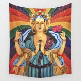 Buddha of Compassion Wall Tapestry