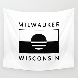 Milwaukee Wisconsin - White - People's Flag of Milwaukee Wall Tapestry