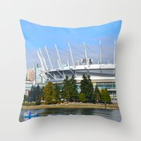 vancouver Throw Pillows featuring Vancouver by CarienMoore