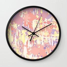 Yellow Red Purple Wall Clock