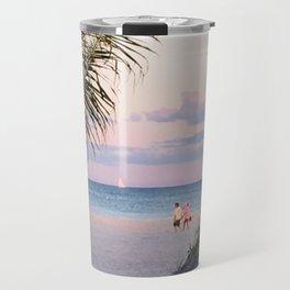 Lovers walk beach Travel Mug