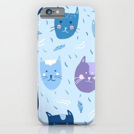 Little blue cats iPhone Case