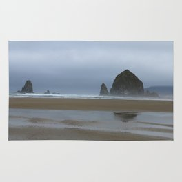 Misty Morning at Cannon Beach Rug