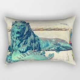 Trapani art 24 Sicily Rectangular Pillow