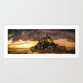 Le Mont Saint-Michel Art Print