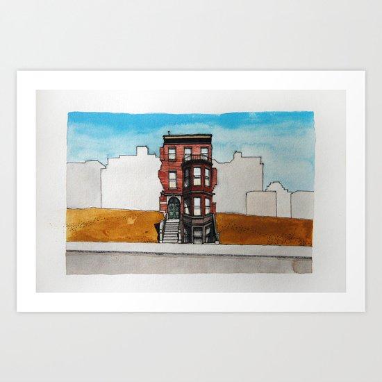 Last House Standing Art Print