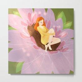 Sleeping Flower Metal Print