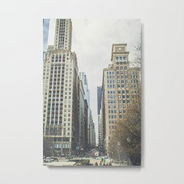 Chicago street Metal Print