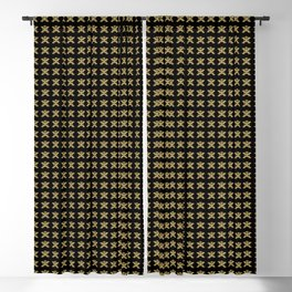 Replica of Pre-Columbian Pectoral Pattern in Gold Leaf on Black Blackout Curtain