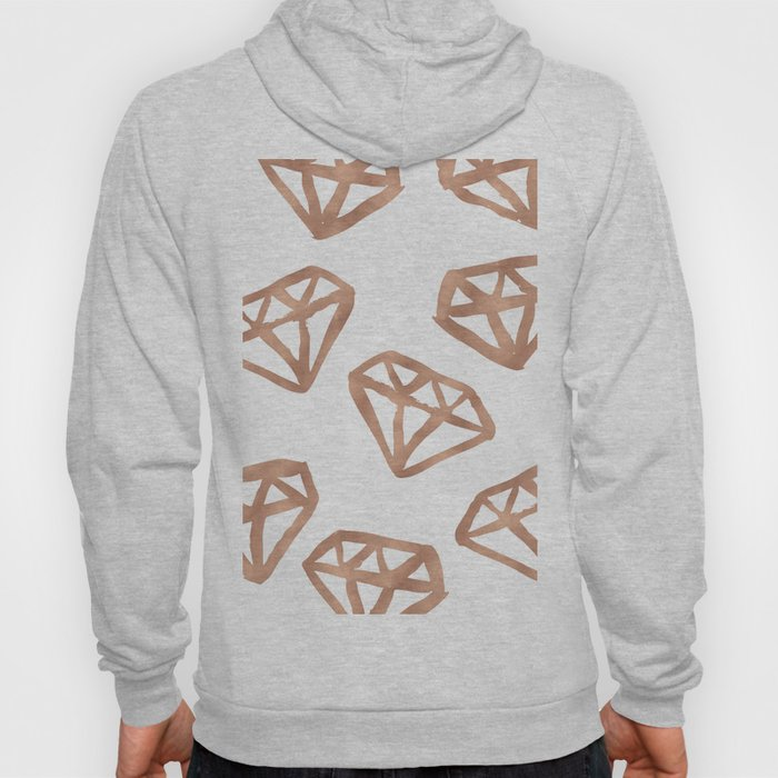 Rose gold diamond print Hoody