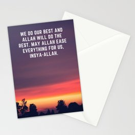 Islamic Pray - We Do Our Best Stationery Cards