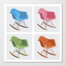 Mid-century Rocker Chairs Canvas Print