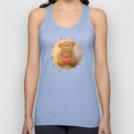"""Teddy Bear"" Toy by pastel Unisex Tank Top"