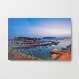 Sunrise in Baiona Galicia Metal Print