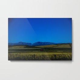 Where the plains meet the Rockies  Metal Print