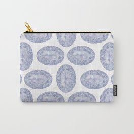 Blue Purple Oval Gem Carry-All Pouch