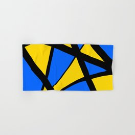 Yellow and Blue Triangles Abstract Hand & Bath Towel