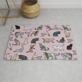Cats shaped Marble - Rose Pink Rug