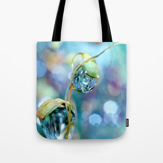 Rainbow Moss Drops Tote Bag